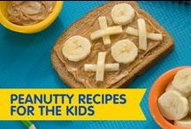 Peanutty Recipes for the Kids / Tic-Tac-Toe Sandwich or a Peanut Butter Caterpillar? Get the kiddos in the kitchen with these super fun kid-friendly recipes!