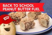 Back to School Peanut Butter Fuel / These back-to-school bites will keep your little ones fueled up and energized for the school day ahead.