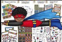 Super-Héros et super-héroïne / Décorations de classe/Super-héros