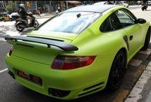 Porsche 911 Turbo de Gris a Verde Mate Kiwi - Car Wrapping by Pronto Rotulo since 1993 / Nos gustan los deportivos, y sobretodo si son con colores llamativos, y atí no?  Es por ello que te invitamos a que veas cómo lo vinilamos integramente en Verde Limón con detalles en Negro Mate MacTac gama Wrap, hasta las llantas pintadas!  Se aceptan sugerencias!  + info en http://www.prontorotulo.com/ + info en https://www.facebook.com/prontorotulo + info en https://www.twitter.com/prontorotulo + info en https://www.youtube.com/prontorotulo + info en http://www.pinterest.com/prontorotulo / by Pronto Rotulo