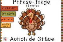 Thanksgiving//Action de Grâce//Novembre / Activités de novembre au primaire (Action de Grâce, Thanksgiving, etc.)