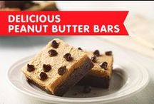 Delicious Peanut Butter Bars / Bake up these super simple peanut butter dessert bars – perfect for any holiday gathering, summer picnic, or school event.