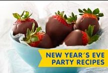 New Year's Eve Party Recipes / Ring in the New Year with these party favorites and easy appetizers or snacks. They're simple to serve and fun to eat!
