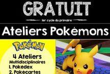Pokémon GO en classe / Pokémon GO pour les élèves du préscolaire et du primaire. Des images à dessiner, des ateliers à manipuler.  Pikachu et ses amis sont également pour les touts-petits :)
