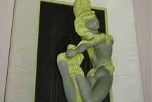 Mid Century Chalkware Wall Plaques, Statues, and Figurines / Chalkware/Plaster Wall Plaques, Statues, and Figurines
