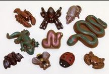 Chocolate Critters / Chocolate Critters are perfect for Halloween or other themed parties or just as a gift to someone who likes critters. Morkes Chocolates makes chocolate molded creations in a variety of themes. We have thousands of molds to choose from. Don't see it? Call us and ask for it. We always look forward to hearing from you.