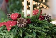 Our Fresh Christmas Wreaths & Holiday Table Centerpieces / Here is a selection of some of fresh balsam fir wreaths and table centerpieces.