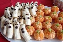 Halloween Party Food / Having a party and looking for ideas on what spooky inspired snacks and appetizers to serve?
