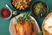 Thanksgiving Menu Ideas / We've collected some of our favorite Thanksgiving recipes. Turkey, Dressing / Stuffing, Yams / Sweet Potatoes, Macaroni and Cheese, Mashed Potatoes, Gravy