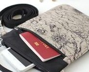 KodamaLife Travel Wallets and Purses / In this pinboard you can see handcrafted small crossbody bags and travel wallets which I make in the home workshop and sell on Etsy.