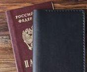 Leather Passport Holder / Minimalism Passport Cover for men and women.