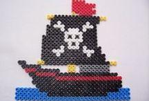 HAMA pirates - strijkkralen piraten