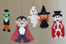 HAMA Halloween - strijkkralen / All different kinds of halloween hama bead examples