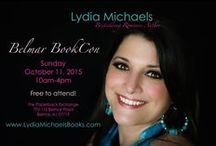 Events / Open access to all upcoming author events Lydia Michaels will be attending.