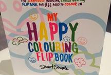 Adult colouring book #adultColouring / Adult Colouring - Happy colouring flip book by Stuart Semple - The anti-stress, creative therapy colouring book for adults available on Amazon http://amzn.to/1MHFXNQ #adultColouringBook #adultColouring