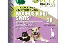 Wound and Hot Spot Starter Pack for Dogs and Cats / Helps heal and limit infection related to wounds, hot spots, cuts, fungus, rash, dermatitis, viruses and infections  Helps stop bleeding on contact and encourages/accelerates the repair of the skin matrix  Natural anti-parasitic  Internal & external antibiotic; used for abscess, cellulitis, diarrhea and Lyme disease  May help address and potentially limit symptoms related to IBD, ulcerative colitis and bleeding ulcers  Used as a broad spectrum internal and externa antibiotic & pain killer