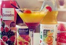 Les cocktails explosifs ! / Besoin de rafraîchissement cette été ...  Réalisez-vous un bon cocktail avec nos produits Auchan ! Hum un régal !!