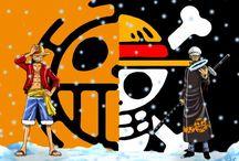 Law x Luffy / Trafalgar D. Water Law x Monkey D. Luffy from One Piece / by Aikyou J.