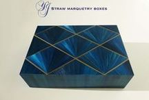 Straw Marquetry Boxes / Straw Marquetry Boxes by Jallu Ebenistes