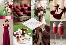 Marsala wedding inspiration. / Pantone's Color of the Year 2014!  Check it out on my blog: http://robinrosedesign.blogspot.com/2015/01/a-marsala-wedding.html#.VK1QRii9VSU