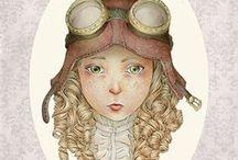 SillyLunastorta Etsy Shop ( fandom, steampunk, cartoons, victorian age, fantasy ) / Handmade items and illustrations inspired by fandom, steampunk & fantasy genres, cartoons, victorian & edwardian eras )