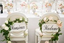 Romantic French Weddings / Wedding decorations and ideas for your beautiful, French Romantic wedding reception.