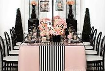 Black and Pink Weddings / Elegant, French themed black and pink weddings - featuring wedding centerpieces, invitations, wedding decorations, and more!