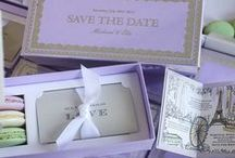 Paris Themed Save the Dates