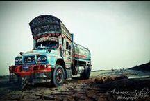 Pakistani Trucks / Beschilderde Voertuigen