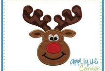 Reindeer applique