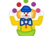 Clown applique