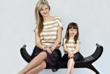 Top with gold stripes - 2 pcs - MOTHER AND DAUGHTER SET / Matching mommy and daughter outfits. Set of two oversize summer tops. Wide gold and white stripes will add chic and elegance. Shop at www.thesame.eu News at www.facebook.com/thesame.eu #thesame #shirts #blouse #goldstripes #strips #comfortable #elegant #timelass #ecru #polishfashion #kidsfashion #womanfashion #momandchild #girlfashion #matchingclothes #stylishkids #stylishmother #stylishgirl