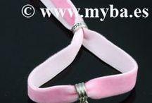 Terciopelo elástico, bisutería / Bisutería con cintas de terciopelo. Pulseras o brazaletes, collares, gargantillas.