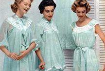 Lingerie vintage / Vintage lingerie under vintage dresses
