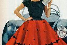 50's fashion / Lovely 50's dresses