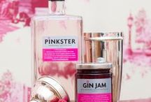 Think Pink! / A fun and eclectic board celebrating all things pink. Pinkster - The natural gin with a mischievous grin. Made with fresh raspberries for the smoothest of finishes. #pinkstergin #thinkpink #pink