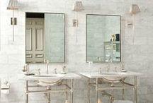 DECO ❀ baños / Baños, bañeras, duchas... lugares de ensueño para relajarse