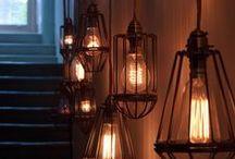 DECO ❀ iluminación / Lámparas grandes, pequeñas, de techo, de pared, de suelo
