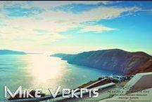 Santorini Destination Wedding | Natalia & Michael | Pantheon Restaurant | June 2014 / Russian destination wedding under the Santorinian Sunset.  DJ Mike Vekris on Decks