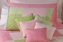 Home decor in pink & green
