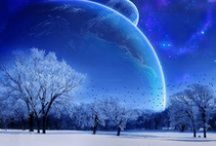 Moon/Planet Art / I don't know why but I just LOVE these pictures :)