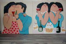 Schilderijen handmade painting / Handmade painting by .....