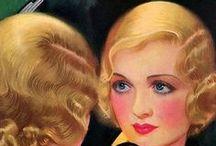 vintage  makeup & hair / beauty 1920-1940's