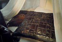 Poduszki skóra / Pachamama - luksusowe poduszki ozdobne.