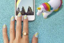 NailSnaps Manis / Custom nail art on nail wraps, created using the NailSnaps App!