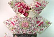 exploding boxes / eploding boxes, box, scrapbooking, cardmaking, wedding, baby