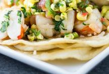 TACOS & OTHER MEXICAN INSPIRED DISHES / Tacos, fajitas and burrito recipes and photos.