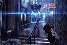 Cyberpunk atmosphere / Future/Sc-fi/cyber/futuristic city