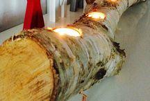 Jul / Juledekoration med birketræ