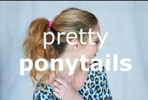 Pretty ponytails / A ponytail is not just a ponytail... #hairspo #hairideas #hairstyles